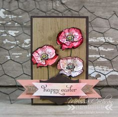 Melissa Cochran: Crazy Paper Freak –  Happy Easter... a Watercolor Wine Tag - 2/12/14.  (SU: Hardwood, Happy Watercolor, Delightful Dozen stamps; Apothecary Accents framelit; Blender Pen; SU Markers).  (flower instructions on post: 2/16/14-Thinking Spring).