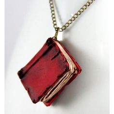 Red Beloved Book Necklace, jewelry, handmade and other apparel, accessories and trends. Browse and shop 8 related looks.