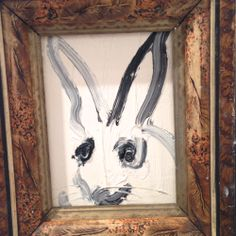 Hunt Slonem bunny painting