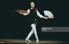 Prima Ballerina Maya Plisetskaya performs on stage during a concert at Bolshoi Theatre in Moscow, November 20, 2000. Plisetskaya celebrated her 75th birthday with a gala performance at Bolshoi, where Russian president Vladimir Putin welcomed her back to her original artistic roots.