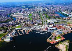 Cardiff Bay Aerial by Cardiff Metropolitan University, via Flickr