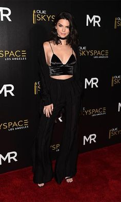 Slaying in all black, Kendall Jenner hosted the OUE SkySpace launch on Thursday in LA.