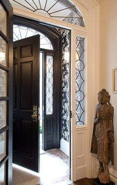 Home Interior Hamptons Fearins & Welch Fearins & Welch site.Home Interior Hamptons Fearins & Welch Fearins & Welch site Porch Doors, Entrance Doors, Front Doors, Villa, Home Interior, Interior And Exterior, Interior Design, Door Design, House Design