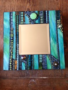 Mosaic Mirror by Moonjewelsandmosaics on Etsy Stained Glass Mirror, Mirror Mosaic, Mosaic Wall, Mosaic Glass, Mosaic Tiles, Mosaics, Glass Mirrors, Mosaic Artwork, Small Mirrors
