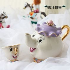 Hot Sale Cartoon Beauty And The Beast Teapot Mug Mrs Potts Chip Tea Pot Cup 2PCS One Set Lovely Xmas Gift Free Shipping-in Coffee & Tea Sets from Home & Garden on Aliexpress.com | Alibaba Group