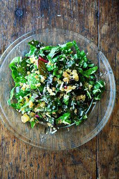 Swiss Chard Salad With Lemon, Parmesan, and Breadcrumbs