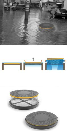 In the most extreme flooding events, storm drains alone do little to move such great amounts of water from the streets, their ineffectiveness can result in deadly conditions for urban dwellers, the innovative 'Floating Manhole Cover' provides an additional way for water to escape... READ MORE at Yanko Design !