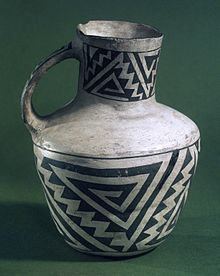 Ancestral Puebloans - Pitcher w/ black on white geometric design, 900-1300 AD Wikipedia, the free encyclopedia