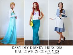 Merrick's Art // Style + Sewing for the Everyday Girl: HOMEMADE HALLOWEEN: DIY DISNEY PRINCESS HALLOWEEN COSTUMES