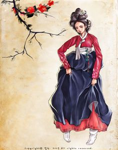 Hanbok Illustration   Korea
