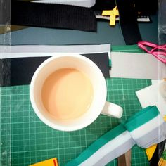 Had #acuppa tea. What a messy desk.
