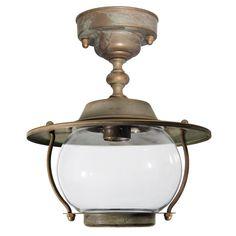 Tuscanor - Brass Porch Flush Light - TUS2062