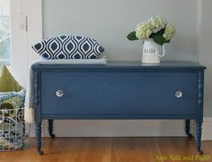 Blue Painted Furniture, White Furniture, Shabby Chic Furniture, Antique Furniture, Gothic Furniture, Salvaged Furniture, Painted Cedar Chest, Painted Drawers, Diy Furniture Restoration