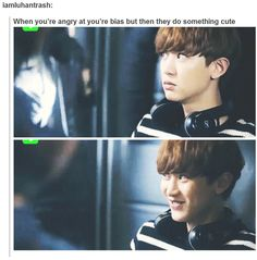 You can't stay mad at a bias, especially an EXO one! Thems the rules^.^