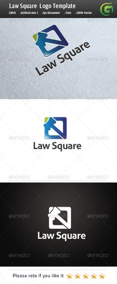 Logo for sale just 29 USD Law Square