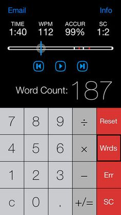 Running Record Calculator | Stopwatch Recorder ($0.00) Makes literacy testing faster and more accurate than ever before. Combines all the standard running record calculator  stopwatch functions with the convenience of audio recording playback. Flagging lets you quickly refer back to the audio of difficult sections and automatically count errors and self-corrections.  With the push of a button, you will be able to see students' reading rate, percentage of accuracy, and self-correction ratio.