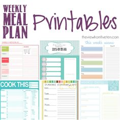 Weekly Menu Planning Printable This is the best one. Menu Planning Printable, Weekly Menu Planning, Planning And Organizing, Planner Organization, Printable Planner, Meal Planning, Free Printables, Organizing Life, Planner Stickers