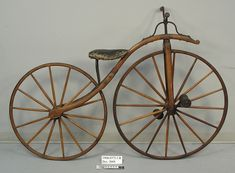 This 1867 Boneshaker velocipede bike may be old but it's still energy efficient! Retro Bicycle, Old Bicycle, Old Bikes, Vintage Cycles, Vintage Bikes, Antique Bicycles, Penny Farthing, Bike Poster, Push Bikes