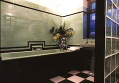 Art Deco bathroom - love, but my tub needs to be at least twice as deep. And freestanding.