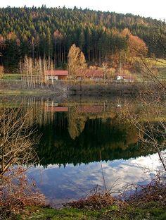 Evening Mood at Nagold Reservoir (Upper Part), Black Forest