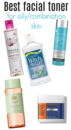 I have today the best facial toners for oily to combination skin for you! These are my favorite toners that make my combination skin (oily t-zone! Best Facial Toner, Facial Care, Best Toner For Face, Beauty Care, Beauty Skin, Beauty Tips, Diy Beauty, Beauty Products, Homemade Beauty
