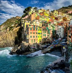 Cinque Terre, Italy - Riomaggiore harbour by Herbert Wong, via 500px