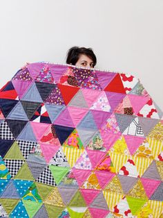 My Poppet Triangle Quilt