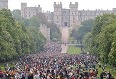 Thousands gathered in Windsor for the spectacular show of marching armed forces and flypasts. Queen's Jubilee!