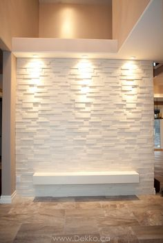Stone wall designed and built by my husband! Stone wall designed and built by my husband! Stone Interior, Interior Walls, Living Room Interior, Home Interior Design, Living Room Decor, Interior Modern, Luxury Interior, Interior Ideas, Living Rooms