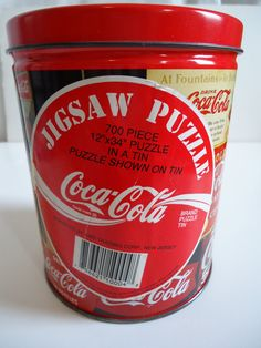 Vintage 1993 Coca Cola Puzzle Advertising Poster Printed Tin New Unopened Package