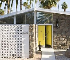mid century home. palm springs.