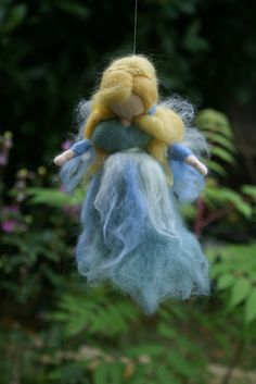 Waldorf fairy Needle felt fairy Blue Fairy fairy by tillytilda