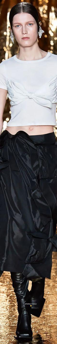 Preen by Thornton Bregazzi Fall 2020 RTW Thornton Bregazzi, Beachwear, Swimwear, Couture Fashion, Outfit Of The Day, Ruffle Blouse, Street Style, Fall, Fashion Brands