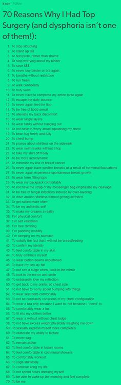 70 reasons to have top surgery!