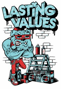 LASTING VALUES X FREAK CITY // SHIRT DESIGN by Freak City Designs, via Behance
