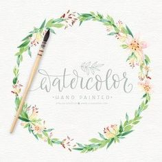 Wreath Watercolor, Watercolor Flowers, Wreath Drawing, Color Harmony, You Are The World, Freelance Graphic Design, Paper Texture, Watercolor Illustration, Textured Background