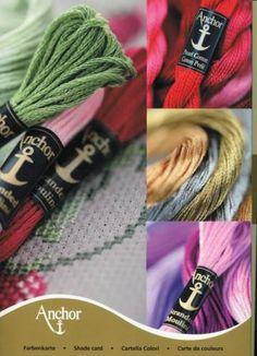 Anchor osztott hímző színskála - ingyenesen letölthető