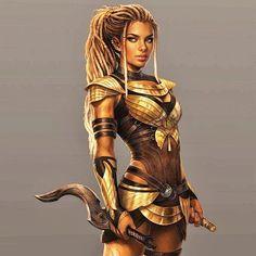 gods of egypt concept art Fantasy Female Warrior, Fantasy Women, Female Art, Fantasy Art, Black Characters, Fantasy Characters, Female Characters, Fantasy Character Design, Character Inspiration