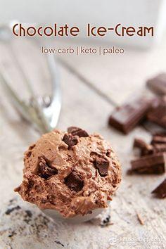 Ultimate Keto Chocolate Ice-cream (low-carb, keto, paleo)