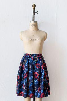 Vintage 1980s blue floral flare shorts | Pond Ledge Shorts
