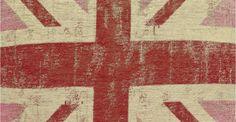 Jack, un coussin déco imprimé Union Jack rose