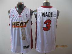 c221b77a142 Heat 2011 Championship  3 Dwyane Wade White Stitched NBA Jersey
