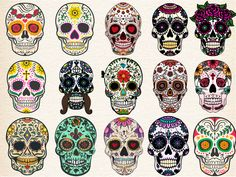 Sugar skulls set by DenisXize on @creativemarket