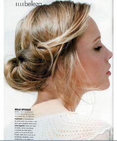 Can be a casual hairdo for school or worn to a form event for a casual, laid-back appearance.