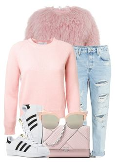 """Pink"" by monmondefou ❤ liked on Polyvore featuring Charlotte Simone, Michael Kors, adidas, Fendi and Pink"
