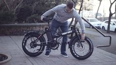 Electric Folding Fat Bike Voltbike Mariner 500w Commercial