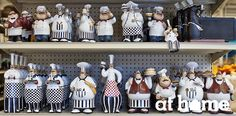They may not be much help at mealtimes, but they certainly add a bit of gastronomic glee to the proceedings! Our fun and affordable kitchen decorations are a delicious and delightful addition to your counter, windowsill, or shelves. I Chef, Dream Apartment, At Home Store, Home Decor Furniture, Sweet Home, Dress Up, Chef Kitchen, Kitchen Decorations, Glee
