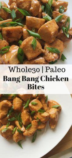 Paleo Bang Bang Chicken Bites - Dolly's Whole Life