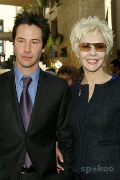 Not a Couple but Son and Mother - Keanu Reeves and mom at Reeves induction in the Hollywood Walk of Fame, Hollywood, CA, 01-31-05