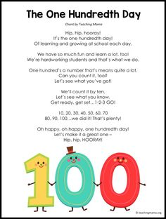 Lots of fun ideas for the day of school. Printables, activities, games, and crafts for young children to celebrate this milestone. 100 Days Of School Centers, 100th Day Of School Crafts, 100 Day Of School Project, School Fun, First Day Of School, School Days, 100 Day Project Ideas, High School, 100 Days Of School Project Kindergartens